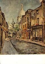 Alte Kunstpostkarte - Marcel Leprin - Montmartre - Rue du Chevalier de la Barre