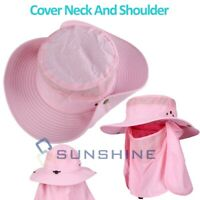 Fishing Hiking Baseball Hat Cap Neck Cover UV Sun Protection Ear Flap Outdoor