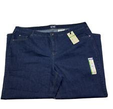 Terra e cielo da donna 26W Lavaggio Scuro Blu Jeans controllo della pancia