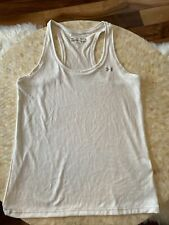 Under Armor Tank Womens Size medium Loose Fit Cream/white