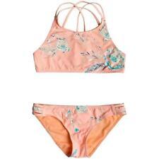 ROXY Girls Darling Girl   Crop Top Bikini Set   Souffle Flowers In The Air