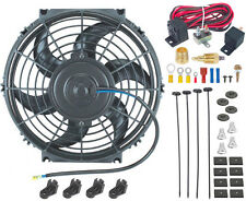 """10"""" INCH ELECTRIC FAN 12V RADIATOR COOLING 3/8"""" NPT GROUND THERMOSTAT SWITCH KIT"""