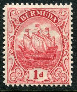 Bermuda #83b Fin Lumière Charnière Édition - Caravel Bateau Schooner Ocean -