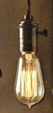 NOSTALGIC Electrical BARE Light BULB Fixture KIT You Make DIY +8 feet lamp cord