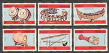 Laos 1984 Instrumentos Musicales// Tambores/tubos 6v Set (n21162)
