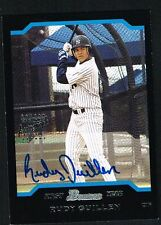 Rudy Guillen signed auto 2004 Topps Bowman Chrome Certified Autograph Issue