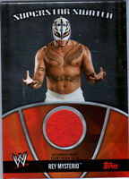 WWE Rey Mysterio 2010 Topps Superstar Swatch Event Worn Relic Card Red