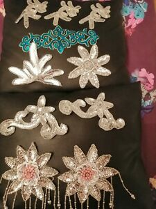 Sequinned Dance Hair Accessories - Bundle of 10 assorted.