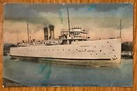 ROCHESTER NEW YORK THE NEW FERRY ONTARIO STEAMSHIP POSTCARD F82
