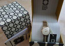 NEW Orla Kiely Watch Frankie Hamilton OK4010 Gold Plated Womens Girls RRP £150