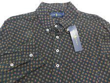 NWT RALPH LAUREN Navy Blue Geo-Print Mens Size Small S Polo Shirt $125