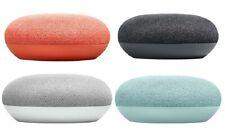 Mini altavoz inteligente de inicio de Google con el asistente de Google, carbón, tiza, CORAL, NUEVO