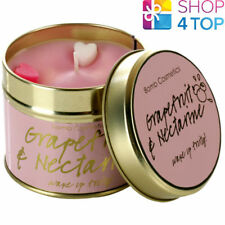 GRAPEFRUIT & NECTARINE TINNED CANDLE TIN BOMB COSMETICS CITRUS SCENTED NEW