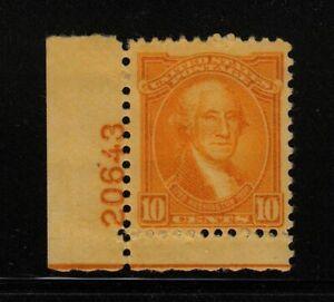1932 Washington Bicentennial Sc 715 MXLH plate number Hebert CV $35