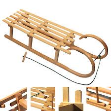 BAMBINIWELT Holzschlitten HÖRNERSCHLITTEN XXL mit Zugseil 120cm