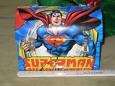 SUPERMAN Last Son of Krypton METAL DOME LUNCH BOX Tin Box 2001 Mint / Unused