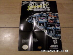 Nintendo NES (1990) Acclaim Promo Poster / Insert: NARC, Double Dragon II, W&W,