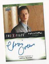 Chris Owens The X Files Ufos & Aliens Paranormal Script Autograph Card Auto