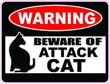 """""""WARNING"""" BEWARE OF ATTACK CAT Bumper sticker  #247"""