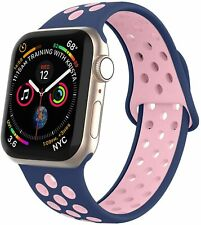 Compatible For Apple Watch Strap Silicone Style, Soft Breathable 42mm Wristbands