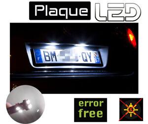 Toyota YARIS 3 2 Ampoules LED Blanc résistances éclairage Plaque immatriculation