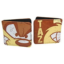 NEW OFFICIAL Looney Tunes Taz (Tasmanian Devil) Mens Boys Classic Bi-Fold Wallet