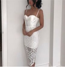 Fox Couture HANDMADE Satin Crochet House Of Dolls CB Bloggers Fav Dress L UK 12-