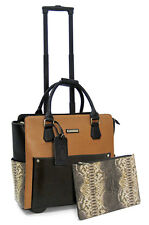 Cabrelli Calista Clutch Women's Rolling Laptop Bag Wheeled Briefcase Case 716032
