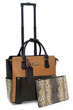 Cabrelli Calista Clutch Women's Rolling Laptop Bag Wheeled Briefcase Case 716032