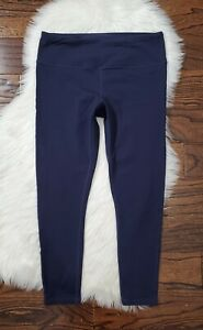 prAna 7/8 Yoga Leggings Women's Size XL Navy Blue