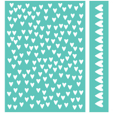 Cricut Cuttlebug Embossing Folder & Border  CROSS MY HEART   NIP