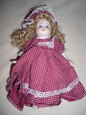 PORCELAIN DOLL -7 INCH    - MINI PORCELAIN COLLECTABLE  DOLL-#8