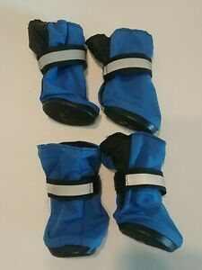 TOP PAW Dog Boots SZ XS/ X-SMALL Blue REFLECTIVE With RUBBER SOLES NWOT