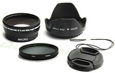 52MM 0.45X SOFT FISHEYE + CPL filter +HOOD +cap for Nikon D5000 D5100 D3100 D100