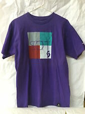 Scott Men's T-shirt Purple Graphic Cycling EUC