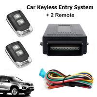 Car Alarm 2 Remote Control Central Locking Door Kit Keyless Entry System