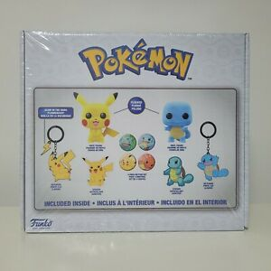 Pokemon Collector Box with Flocked Pikachu & Squirtle Funko Pop **SEALED**