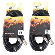2x Quality Female XLR To Male XLR Connector DMX Lighting Cables 20m WWA3273