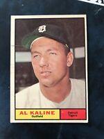 ** 1961 Topps #429 Al Kaline Detroit Tigers Baseball Card VG Fast Shipping! HOF