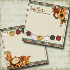 Pizza Lovers Premade Scrapbook Pages EZ Layout 3484
