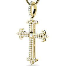 Yellow Gold Very Good VS1 Fine Diamond Necklaces & Pendants