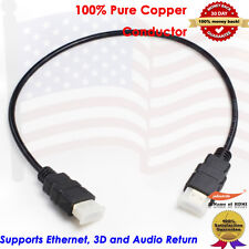Short HDMI v1.4 Cable 2FT 0.6M, Yellowknife Gold Series, US Seller