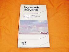 la memoria delle parole ,sei,1987,ref. di allegra agnelli ,storia di parole