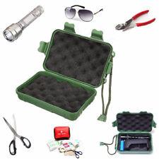 Green Plastic Flashlight Tools Storage Case Box For Outdooors 14.5 x 9.5 x 4cm