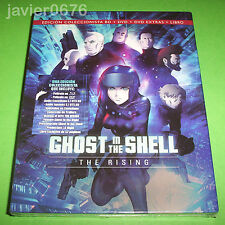 GHOST IN THE SHELL THE RISING BLU-RAY + DVD + LIBRO NUEVO Y PRECINTADO