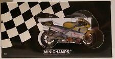 MINICHAMPS VALENTINO ROSSI 1/12 HONDA NSR 500 TAPE BLUE 2001 1A VERSION