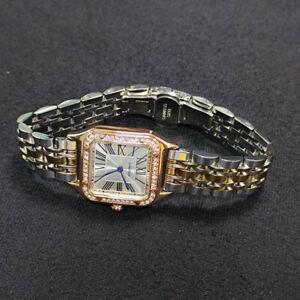 Cartier Watch Tank Rose gold Ladies Silver Quartz w/box