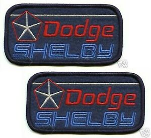 1983 DODGE SHELBY® CHARGER PERFORMANCE PARTS DODGE SHELBY® iron-on 2-PATCH SET