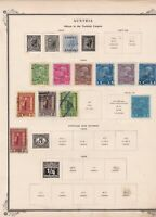 austria offices in turkish empire  stamps  on album page ref r11475
