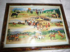 BARRIE LINKLATER EQUESTRIAN HORSE PRINT THE QUEENS STUDS AND STABLES